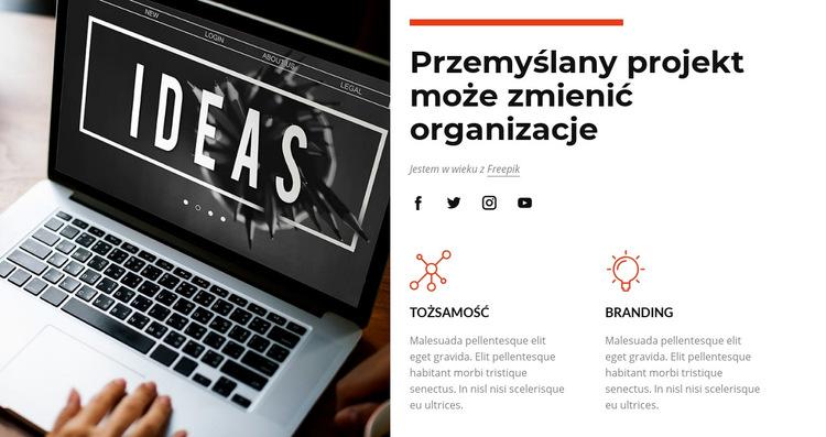 Przemyślany projekt Szablon witryny sieci Web