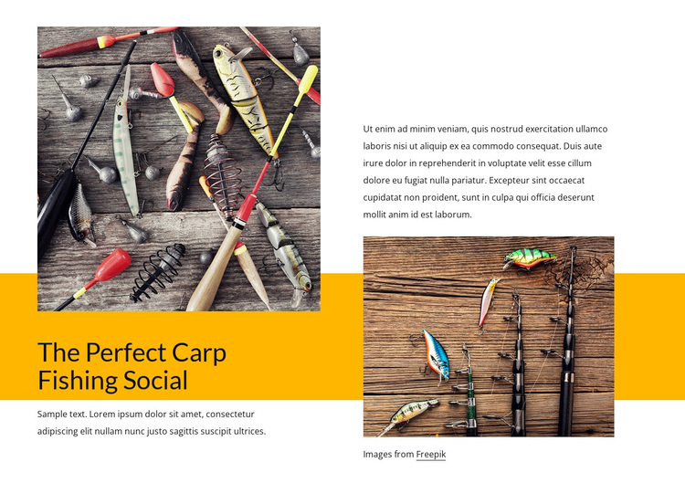 Fishing and wildlife spotting Template