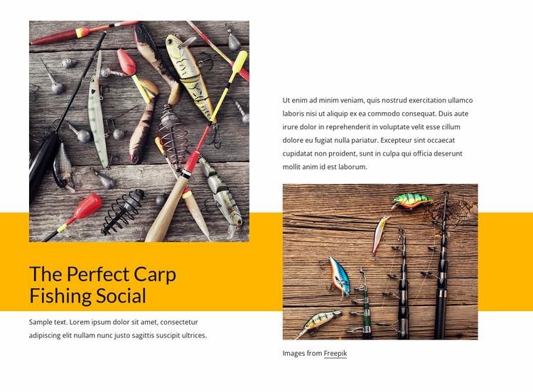 Fishing and wildlife spotting Website Design