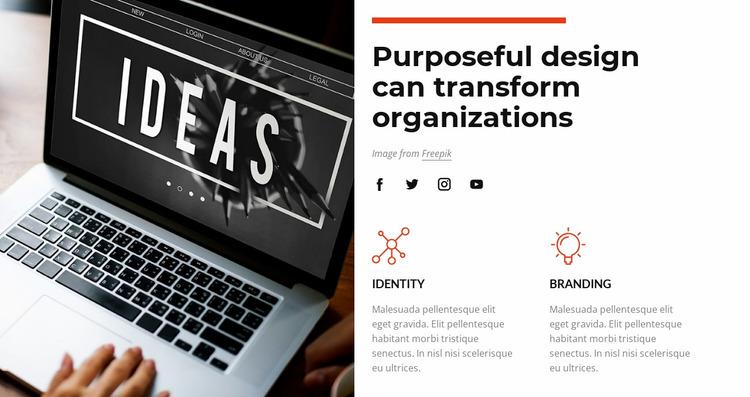 Purposeful design Website Mockup