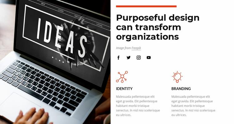 Purposeful design Landing Page