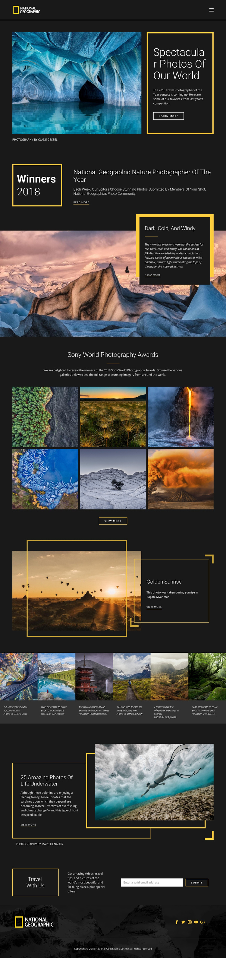 Pictures of nature One Page Template