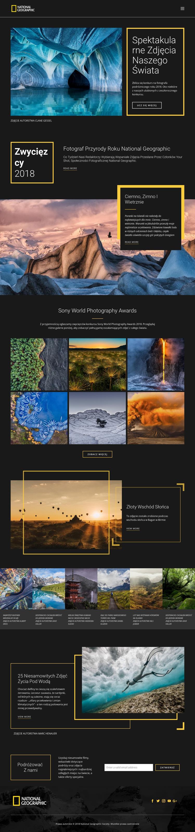 Zdjęcia natury Szablon witryny sieci Web