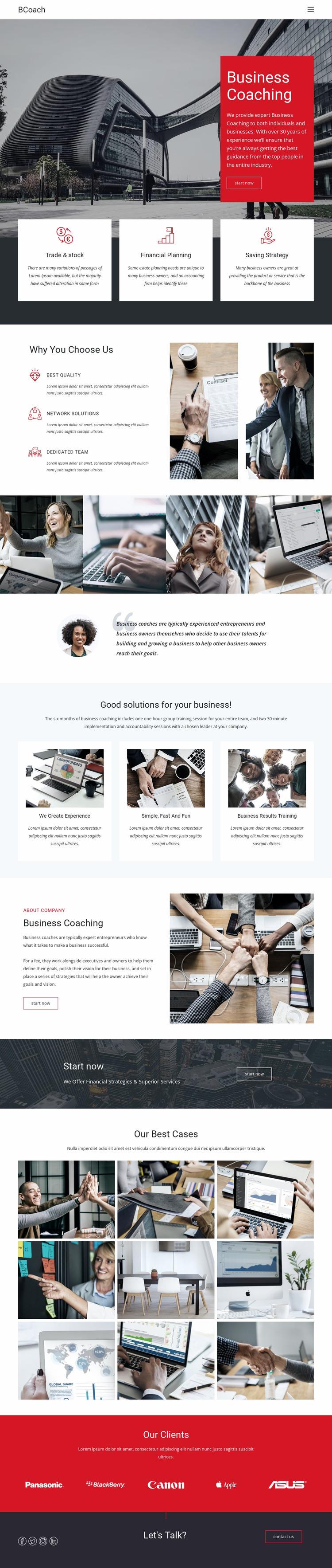 Executive coaching Website Mockup