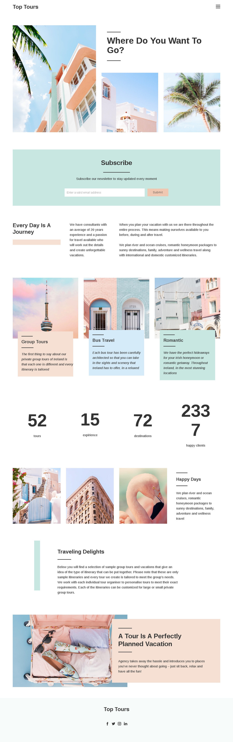 Future travel experience Template