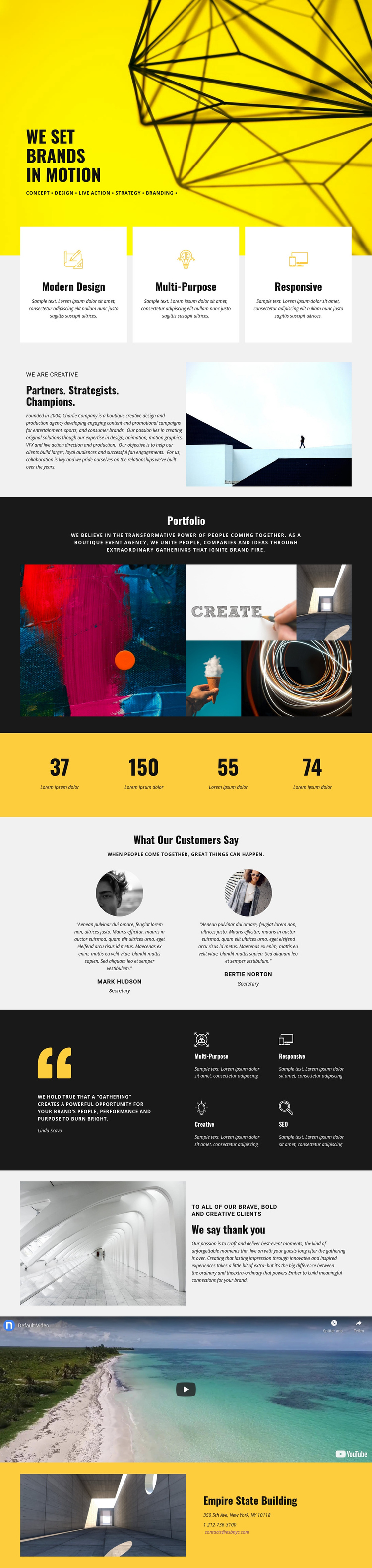 Brands One Page Template