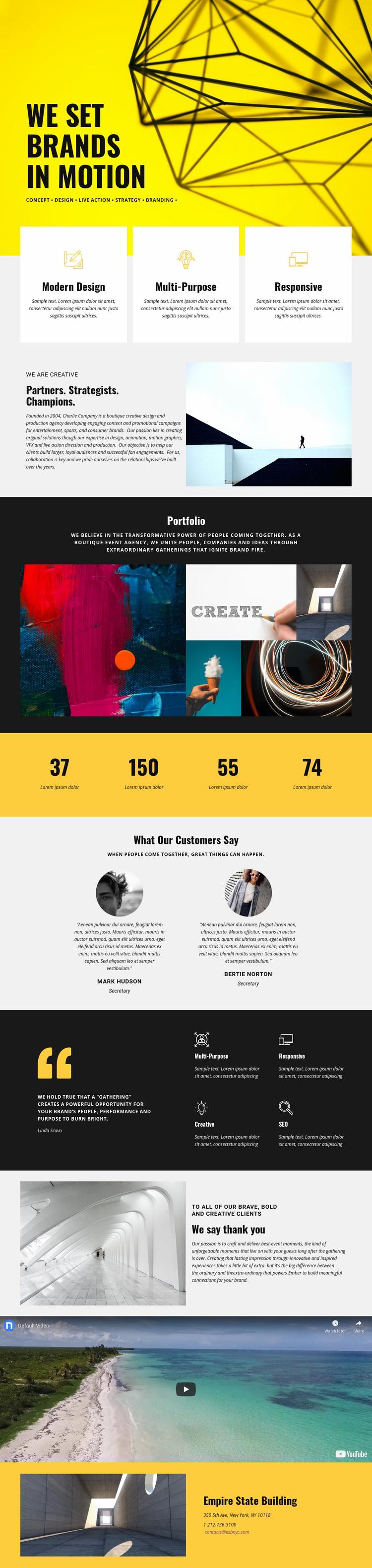 Brands Web Page Designer