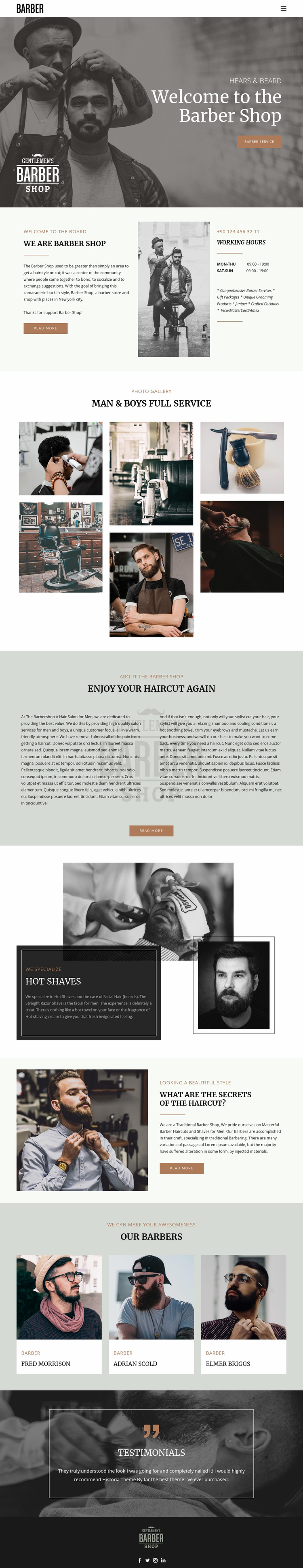 Quality haircuts and hairstyles  Web Page Designer