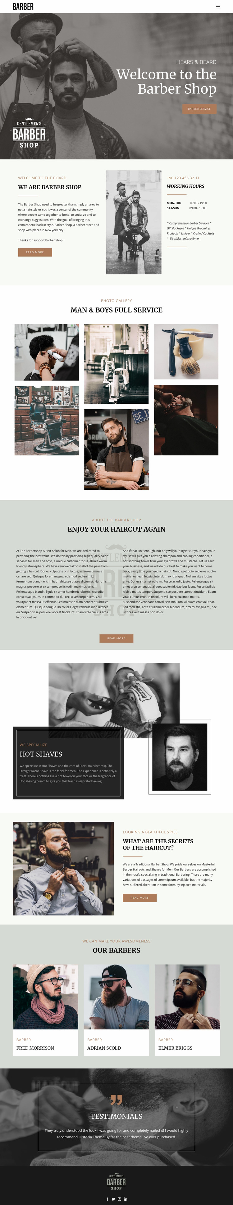Quality haircuts and hairstyles  Website Maker
