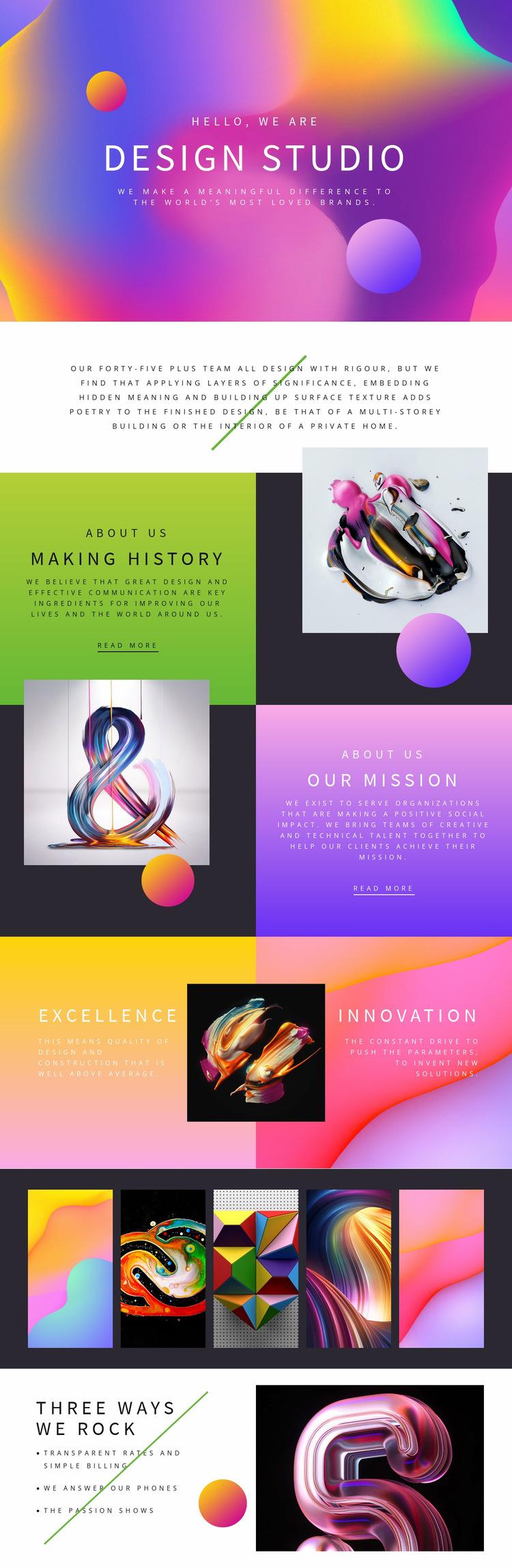 Progressive design art Website Builder