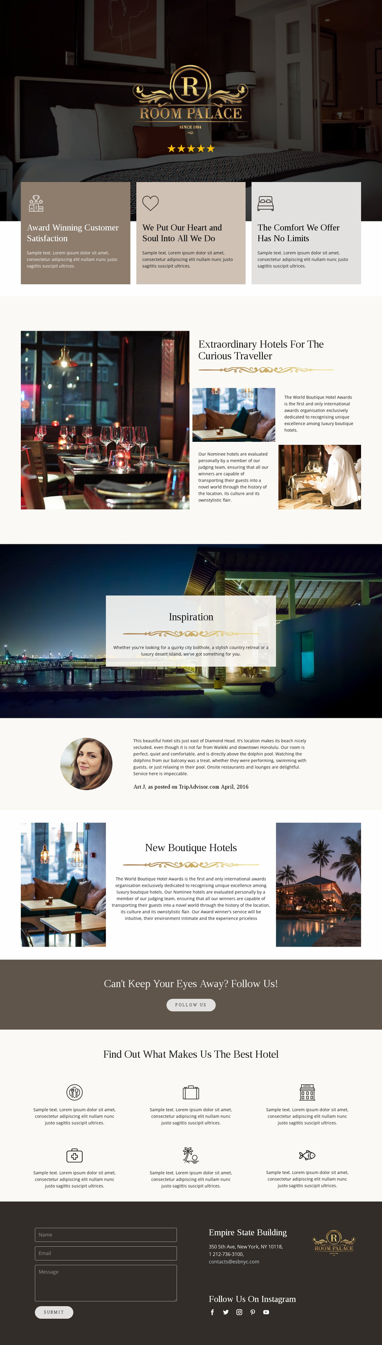Unforgettable travel Landing Page