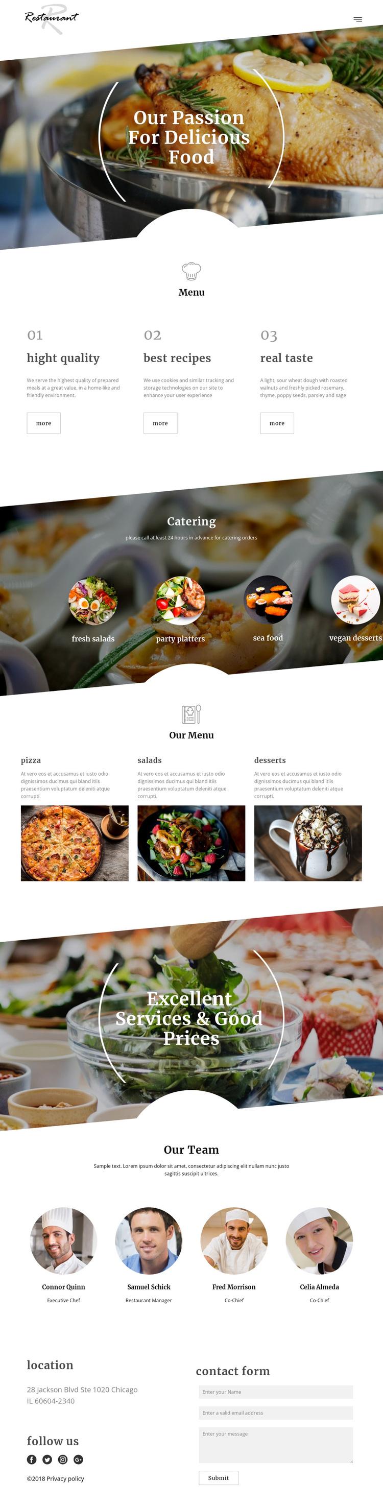 Executive chef recipes Joomla Page Builder