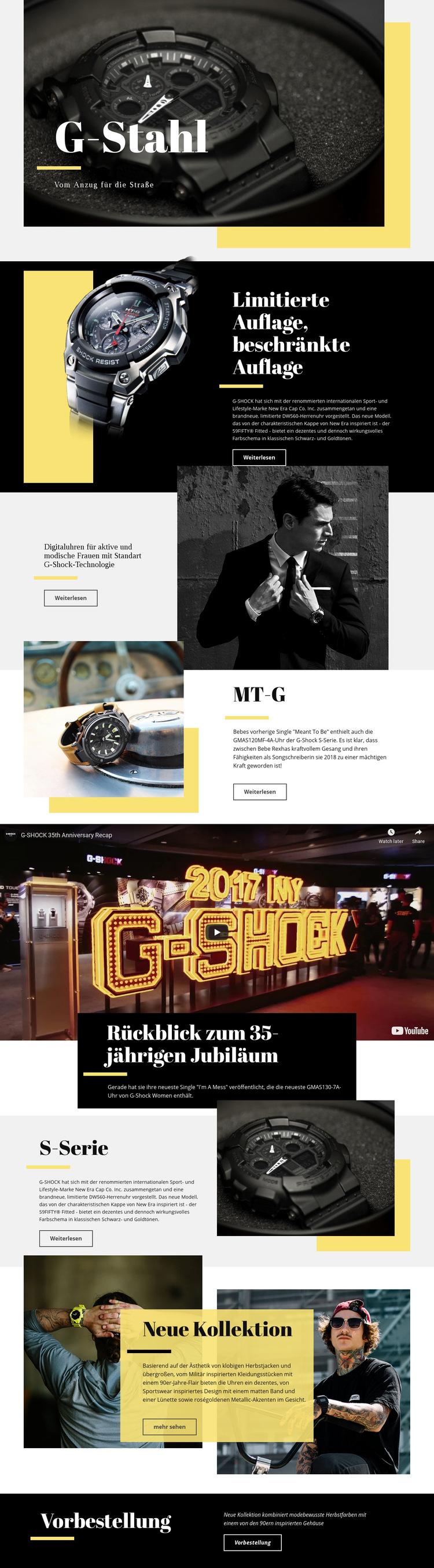 G-Stahl Website-Vorlage