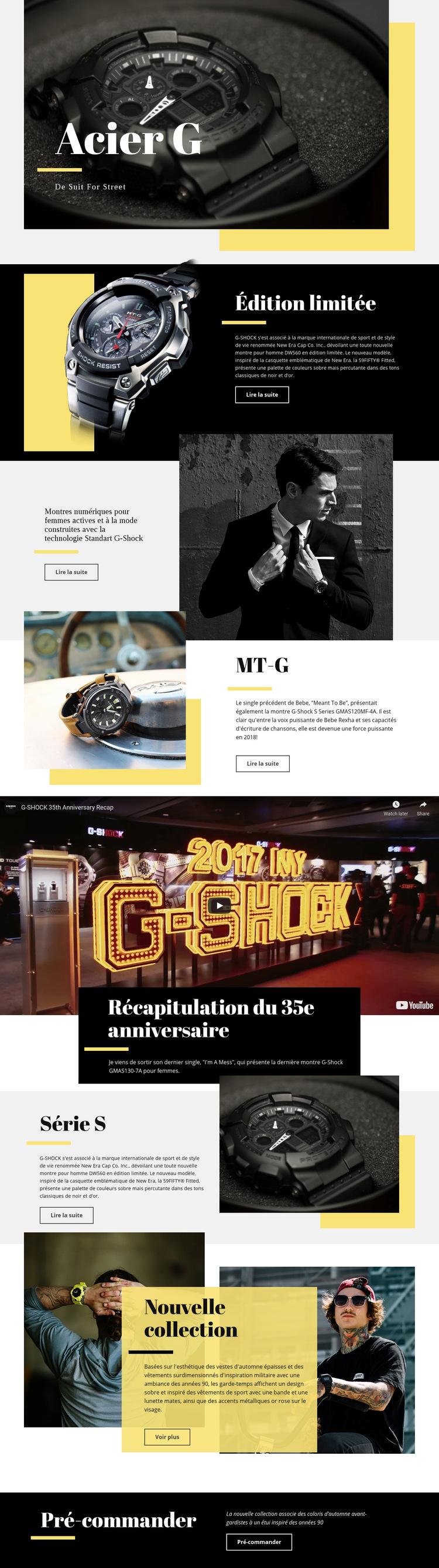 Acier G Modèle de site Web