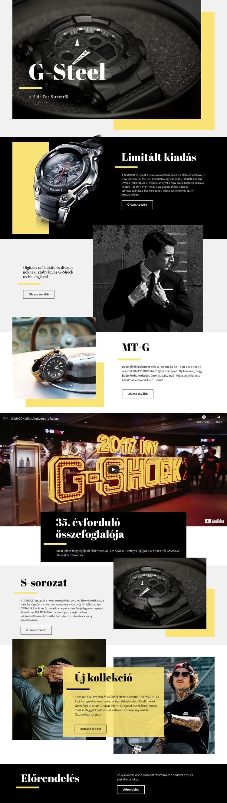 G-Steel Weboldal sablon