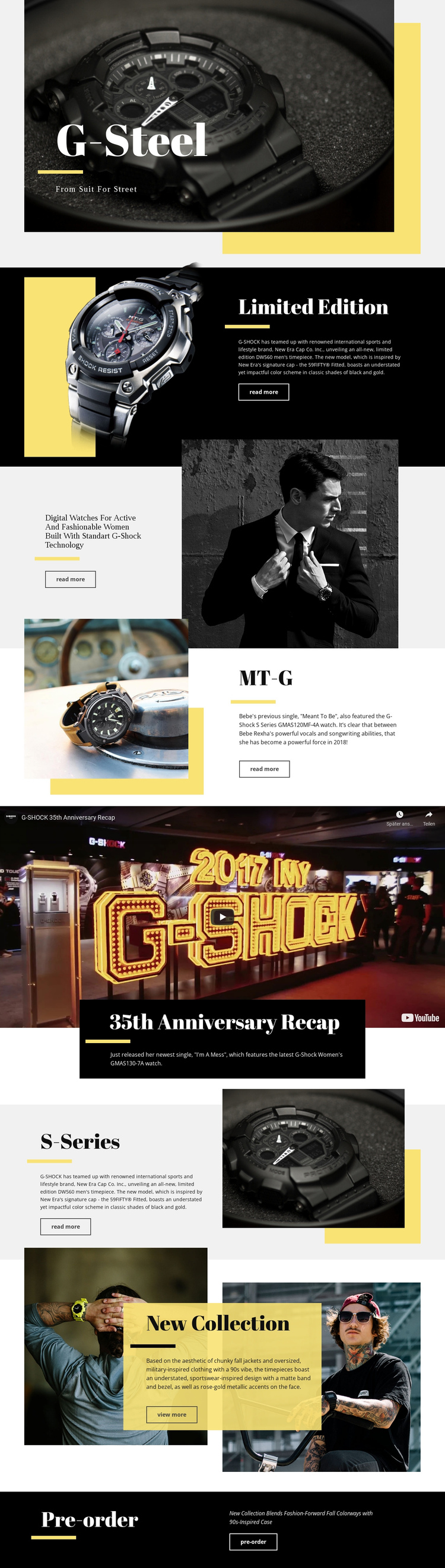 G-Steel One Page Template