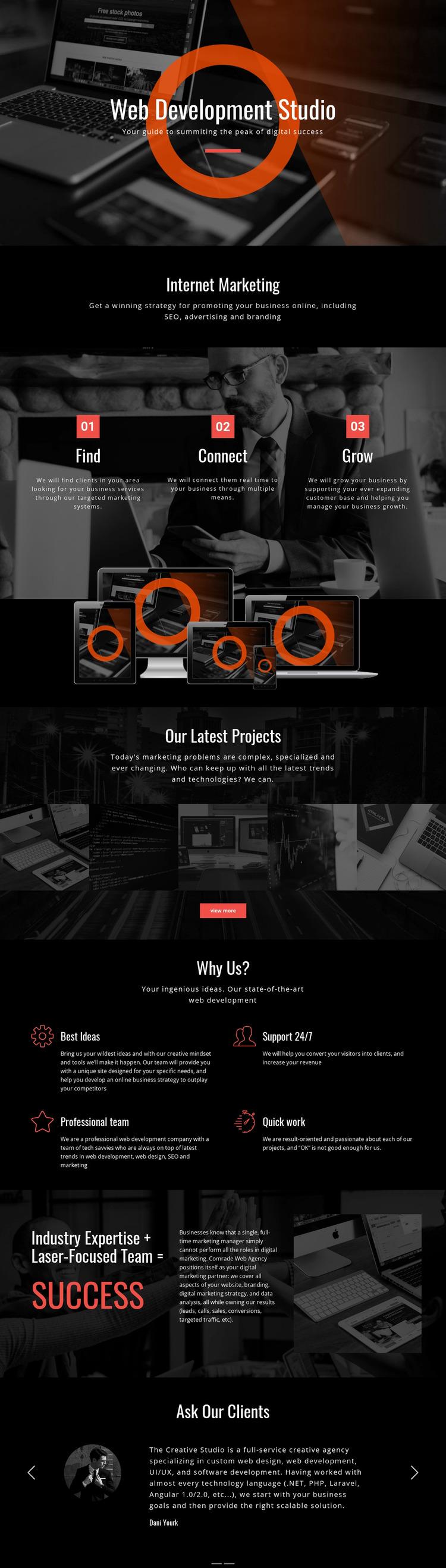 Modern web technology Website Mockup