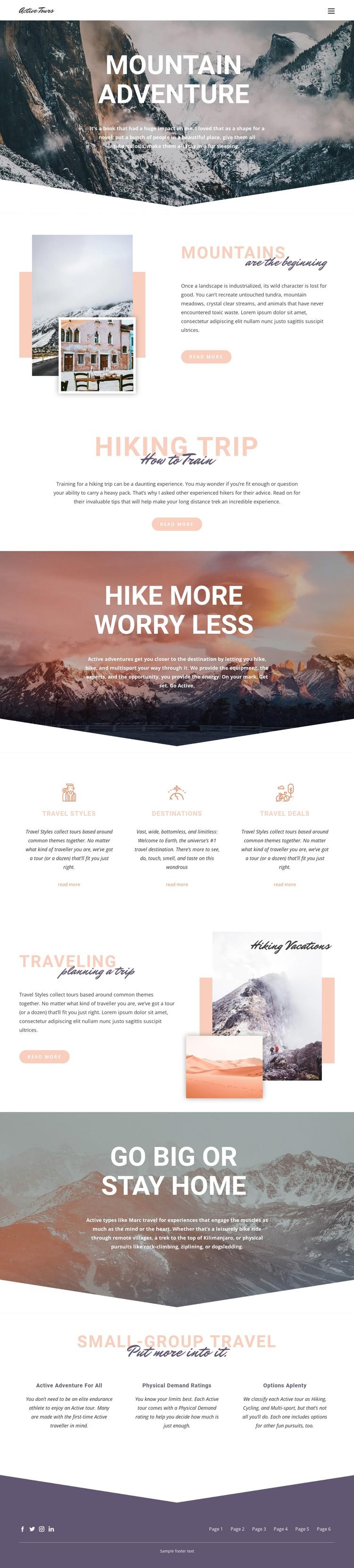 Mountain Adventure CSS Template