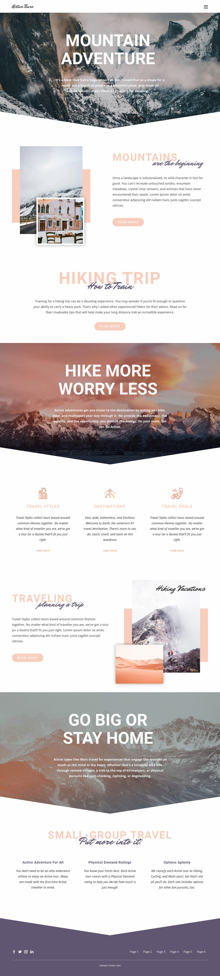 Mountain Adventure WordPress Website Builder