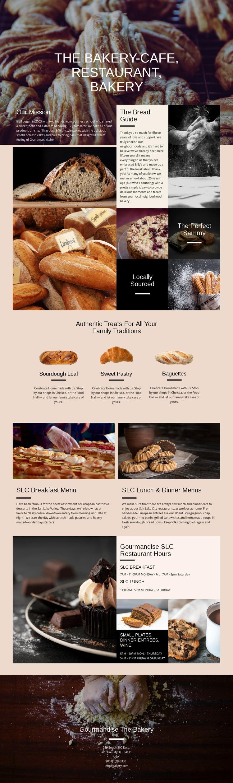 The Bakery Website Builder Templates