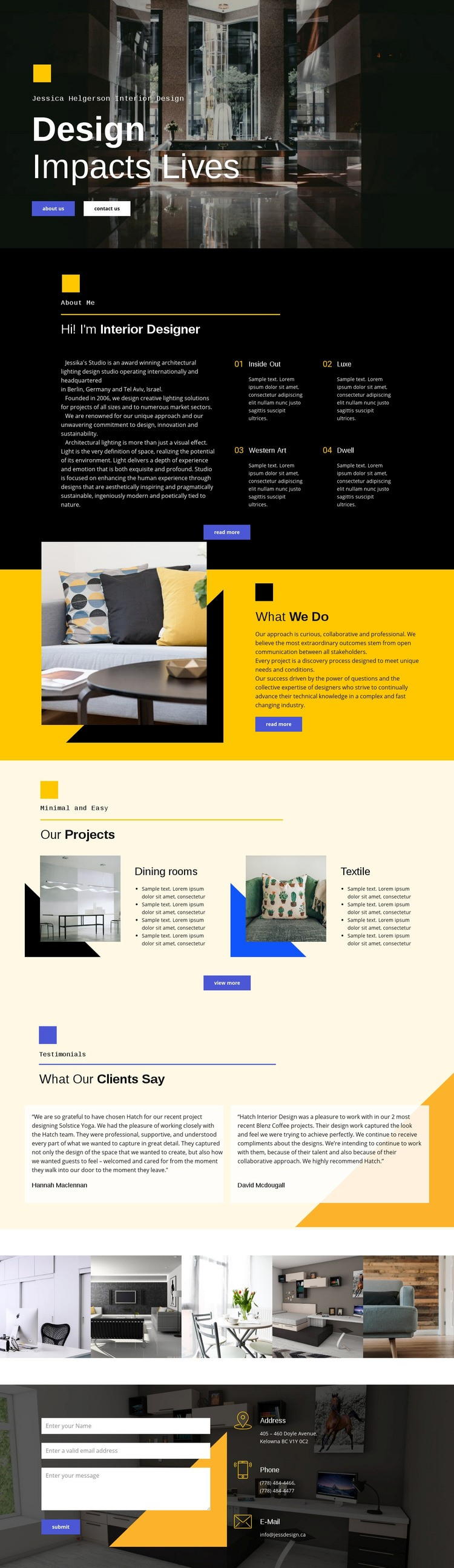 Design affects life Html Code Example
