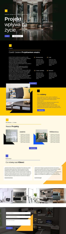 Design wpływa na życie Szablon witryny sieci Web