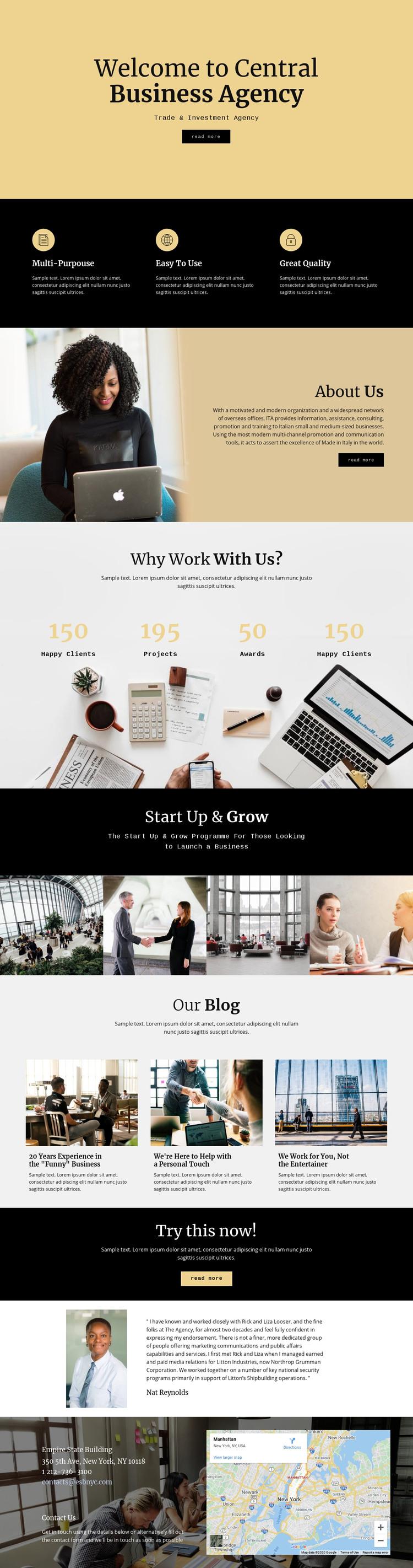 Central digital agency Homepage Design