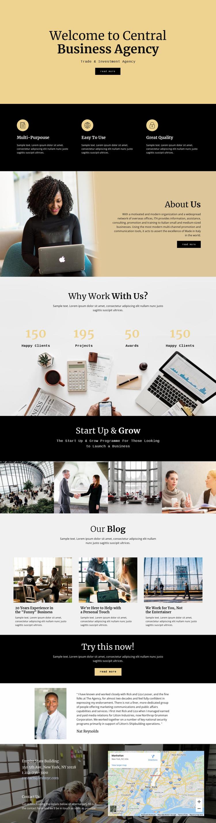 Central digital agency Website Design