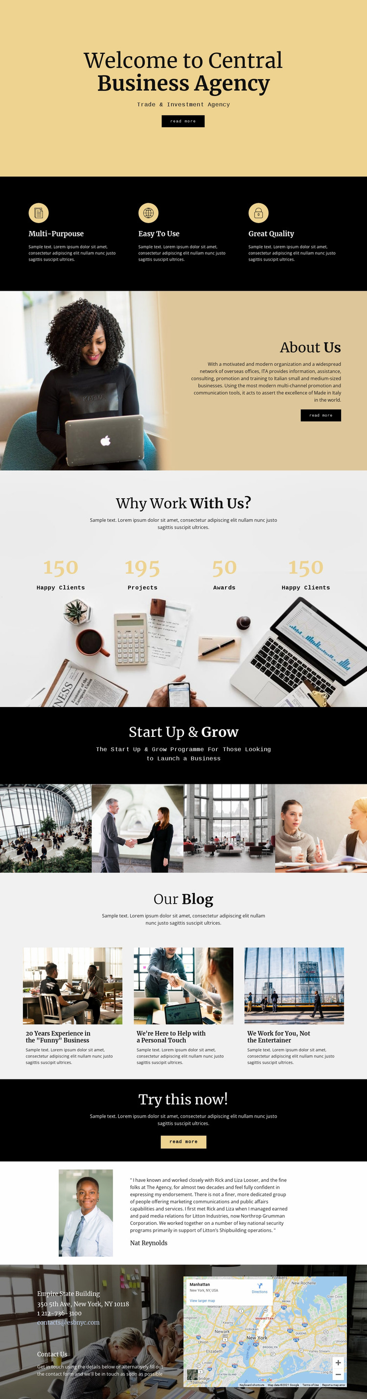 Central digital agency Website Mockup