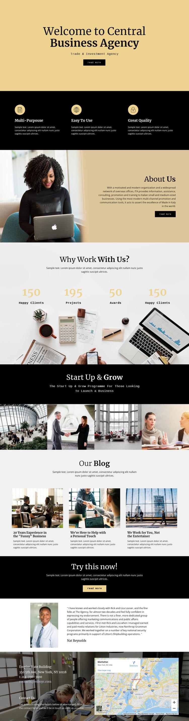 Central digital agency WordPress Theme