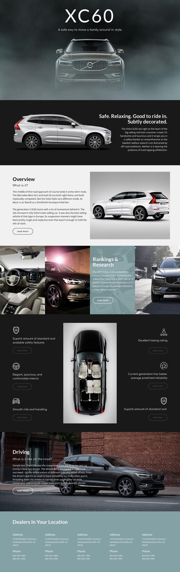 Volvo Web Page Design