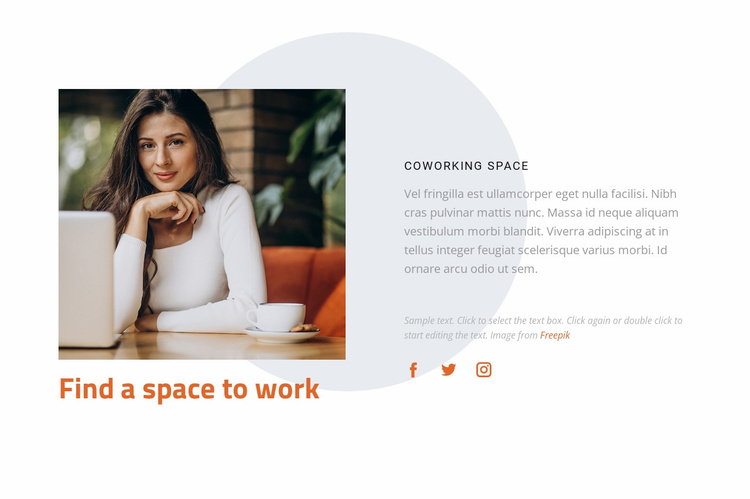 Rent office space Website Template