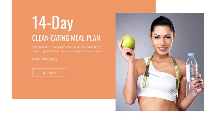 Clean eating meal plan WordPress Theme