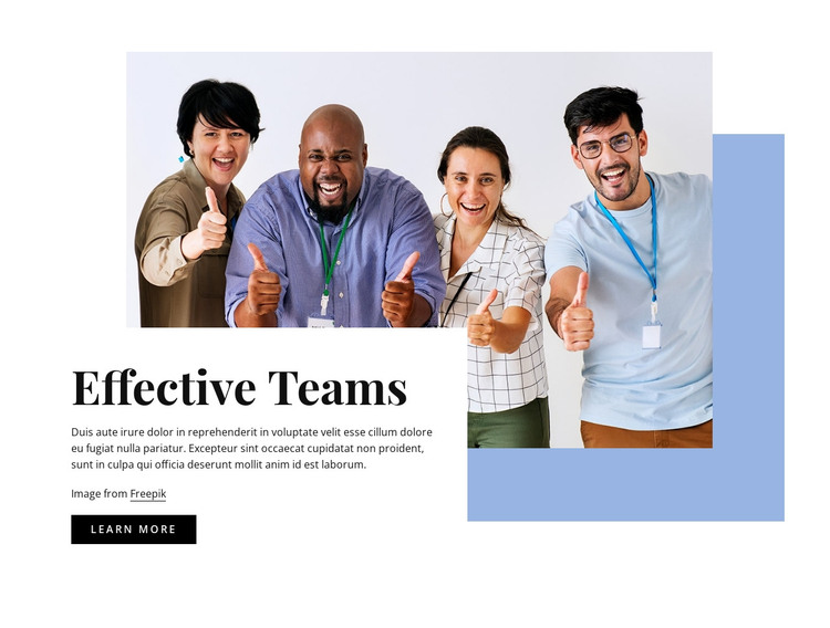 Effective teams HTML Template