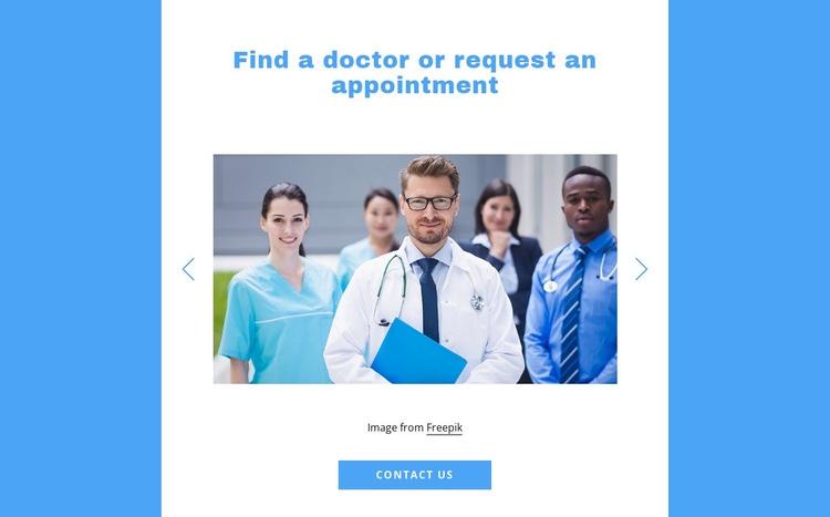 Find a doctor Web Page Designer