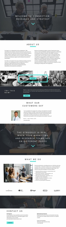 Development strategy Website Mockup