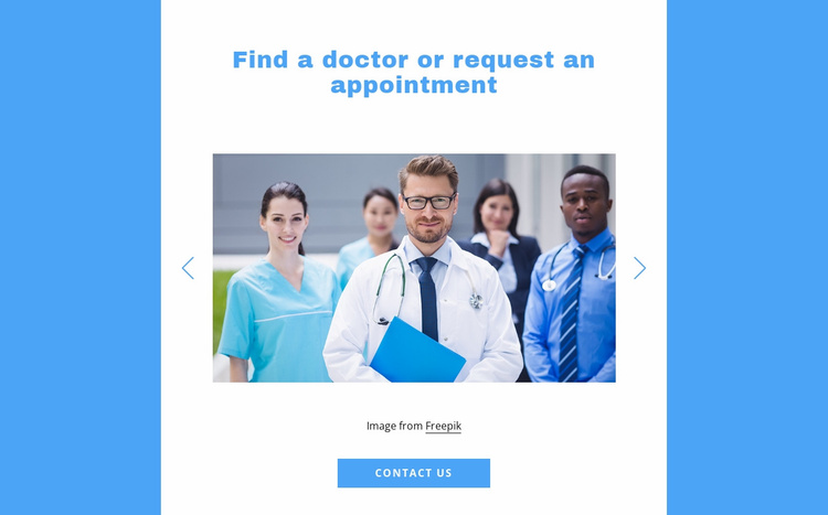Find a doctor Landing Page