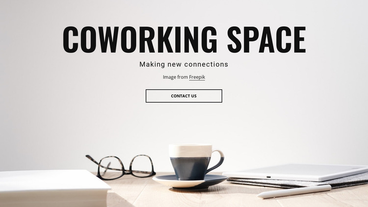 Shared workspaces Website Mockup