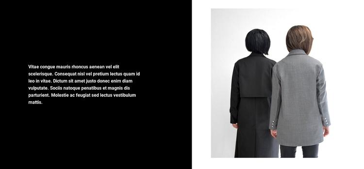Winter coat Joomla Template
