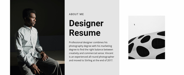 The designer is looking for a job Website Template