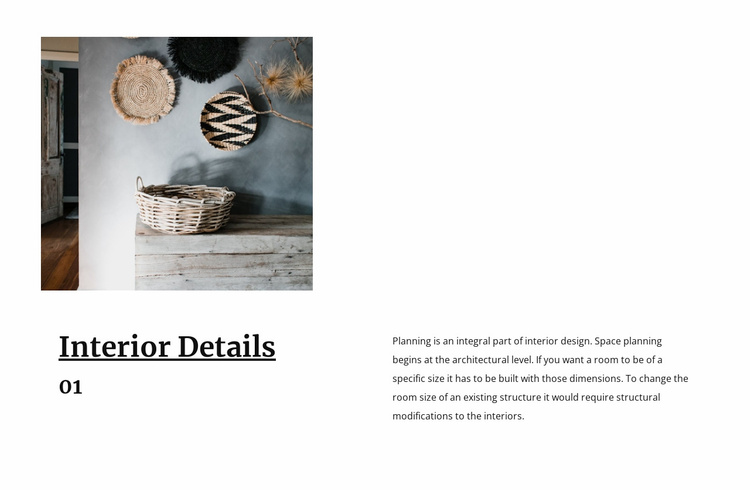 Tableware and decor Website Template