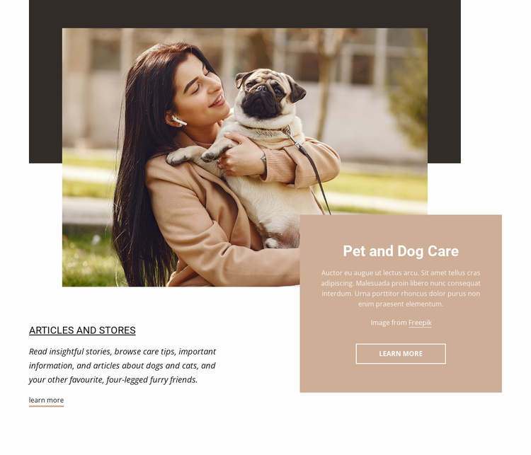 Pet and dog care Website Template