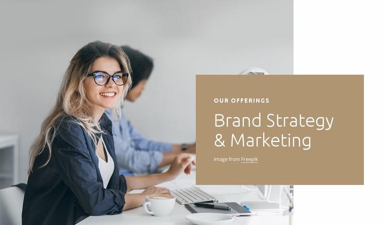 Brand marketing Homepage Design