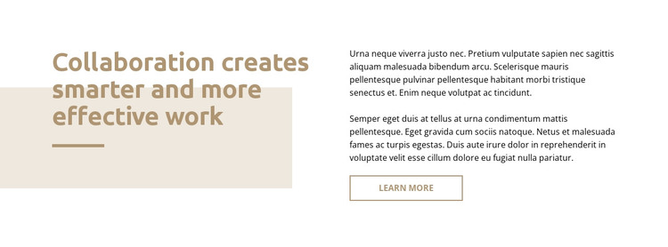 Text with rectangle HTML Template