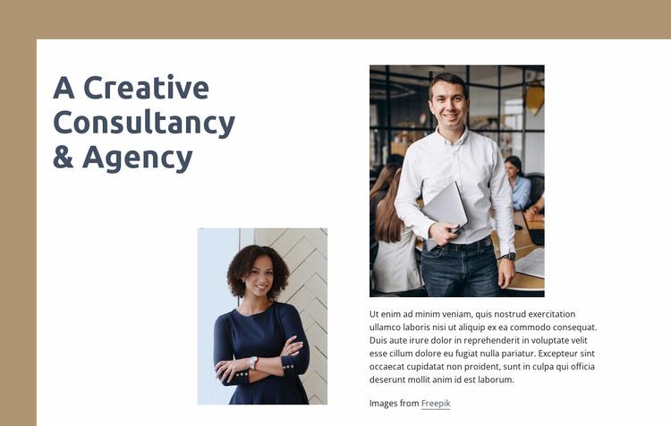 Creative consultancy Website Template