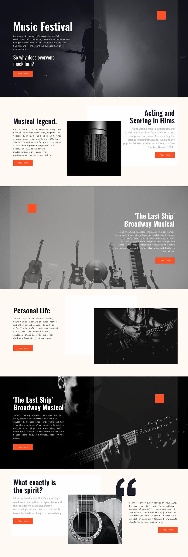 Sting Tale Website Design