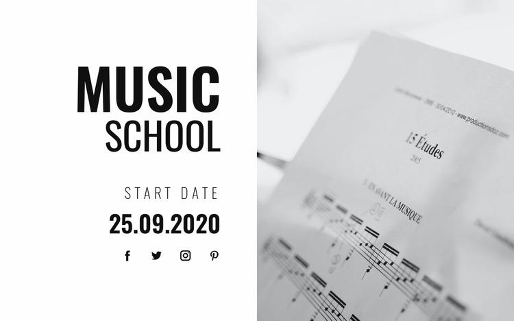 Musical education Html Website Builder