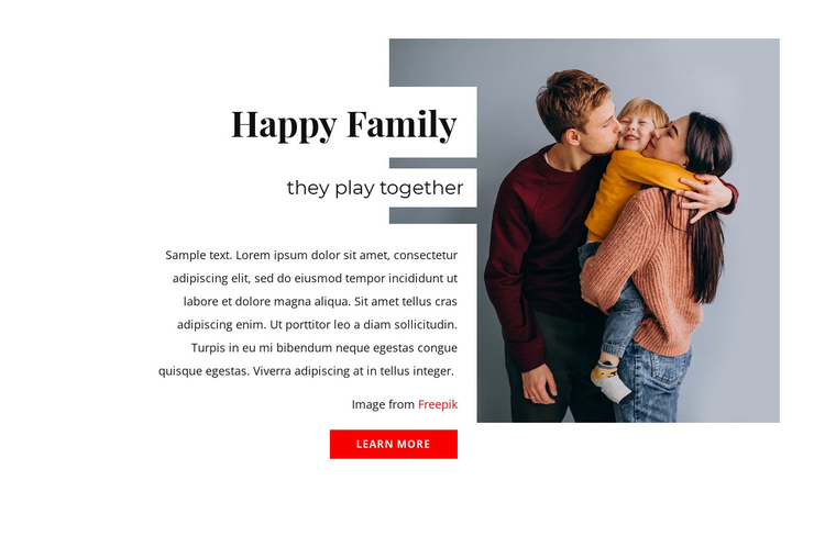Secrets of happy families One Page Template