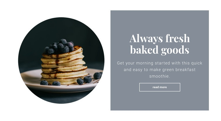 Healthy and tasty breakfast Web Page Design