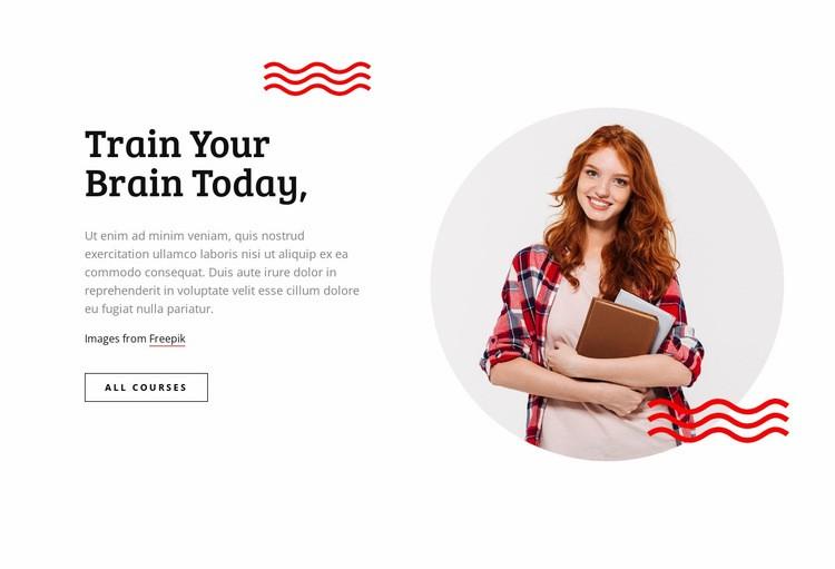 Train your brain Web Page Design